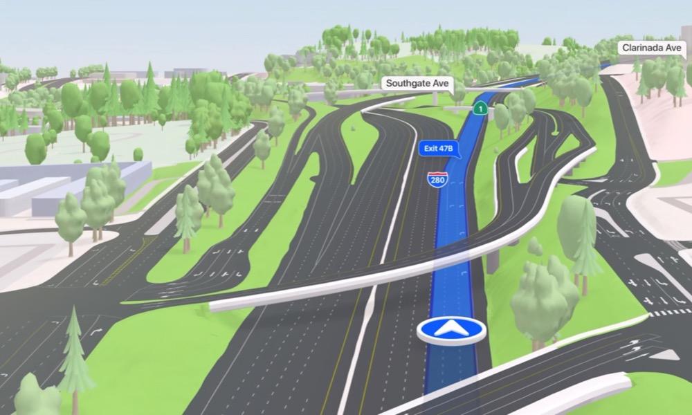 Apple Maps D Highways and Interchanges