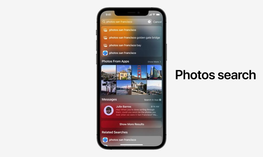 Spotlight Live Text iOS